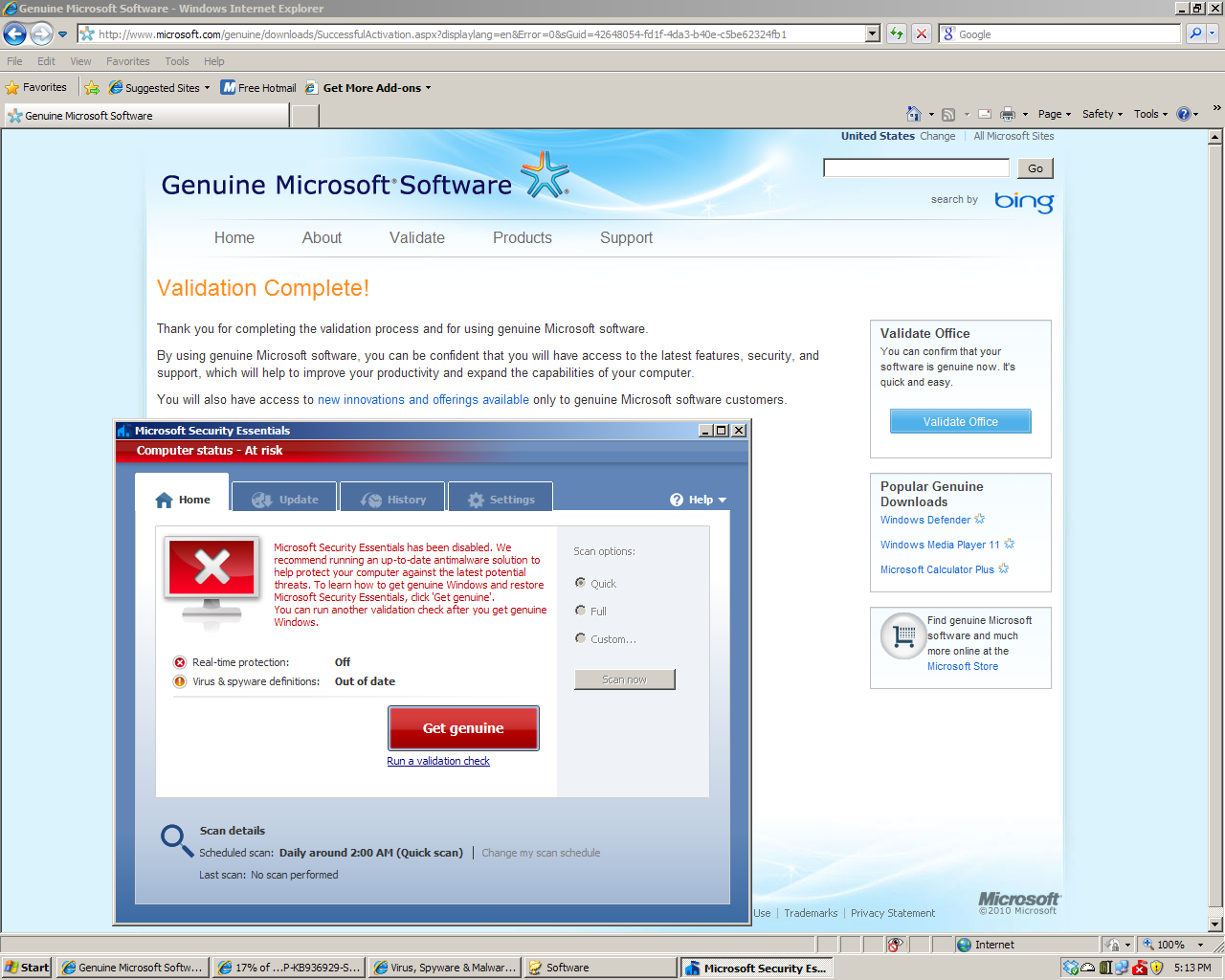 how to get rid of genuine check windows xp
