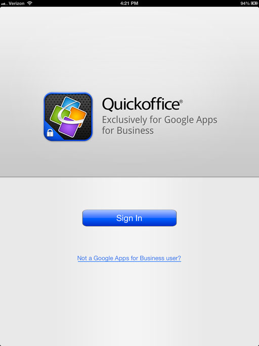 Review Quickoffice Connect is a poor iCloud clone
