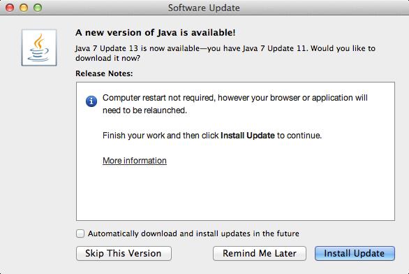 Java 7 Update 13