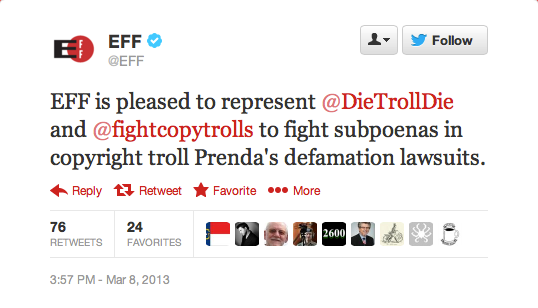 EFF-Tweet-supporting-anti-copyright-troll