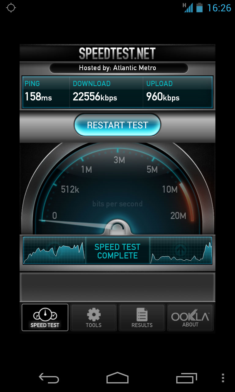 ����� Speed Test Mobile ���������