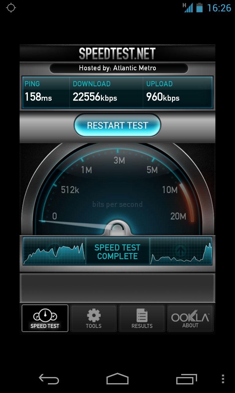 تطبيق Speed Test Mobile للأندرويد Speed-Test-Nexus-4-T