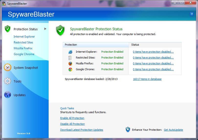 SpywareBlaster 5