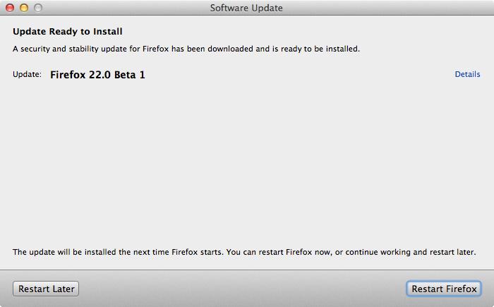 Firefox 22.0 Beta 1