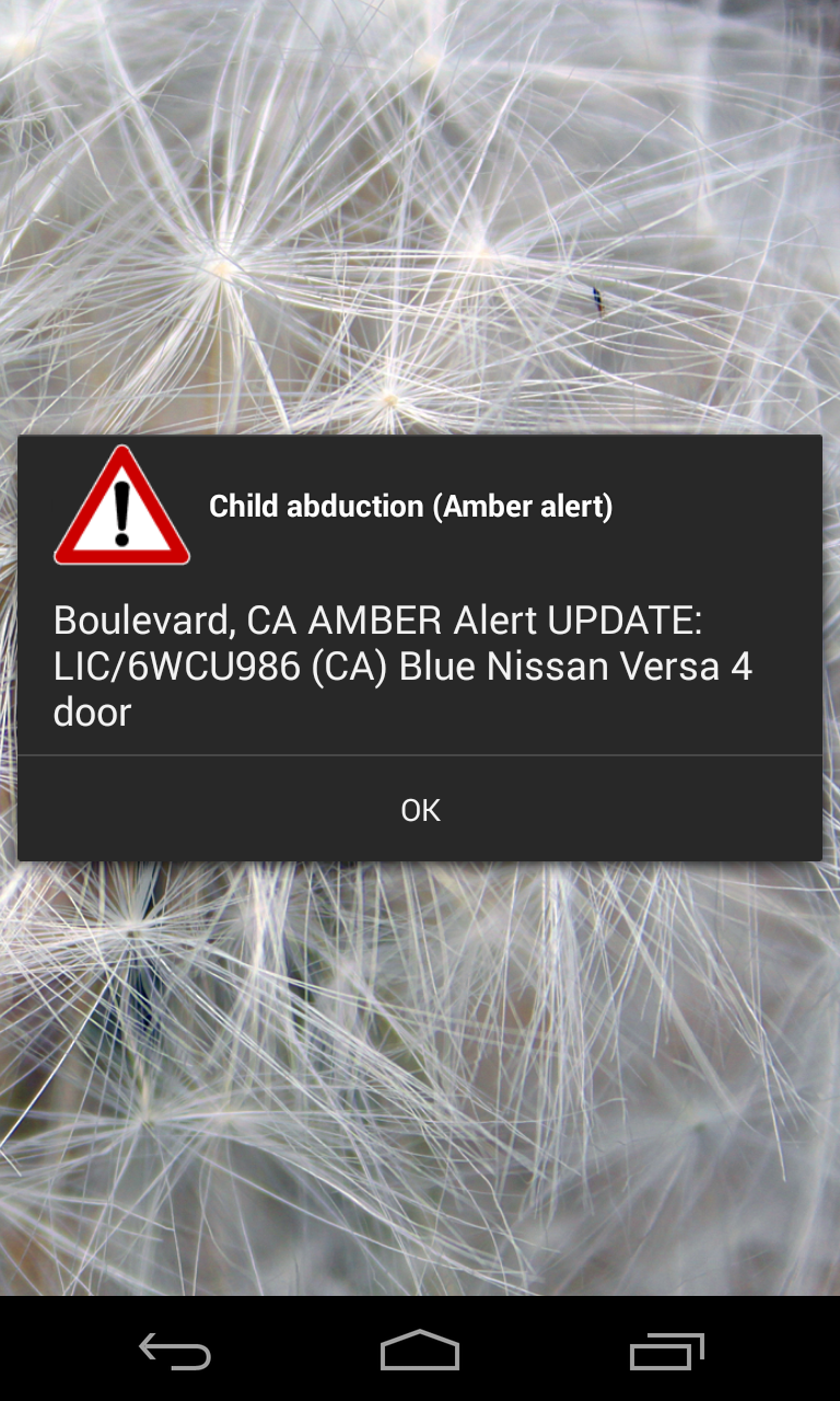 Android Amber Alert