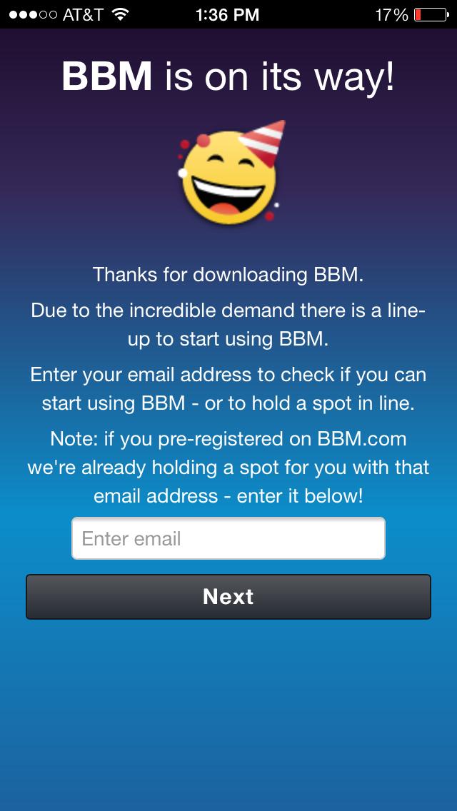 BBM Waiting Line