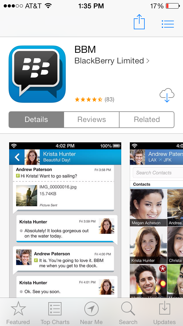 BBM iOS
