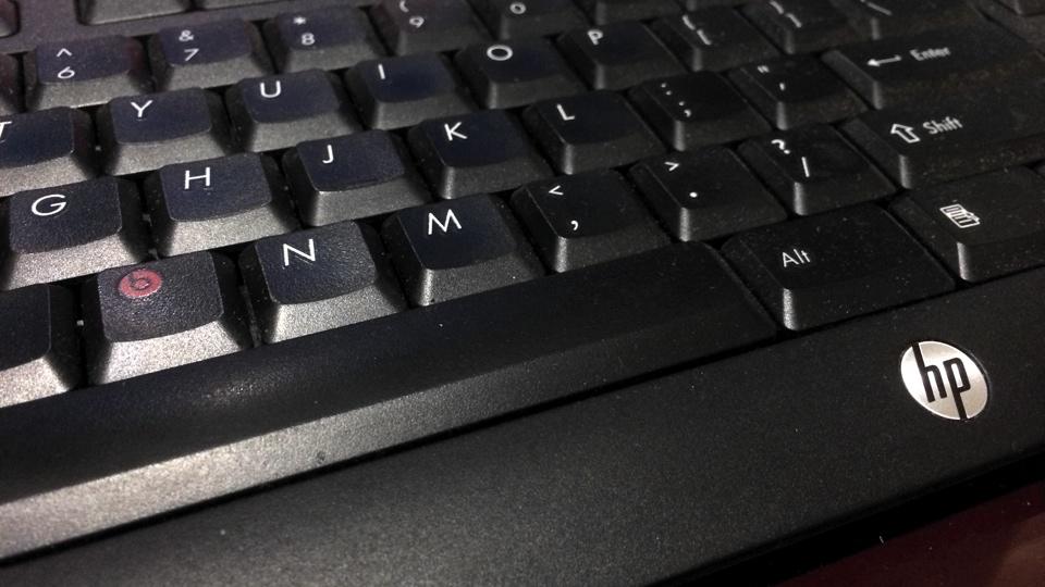Damn HP Where is the b key