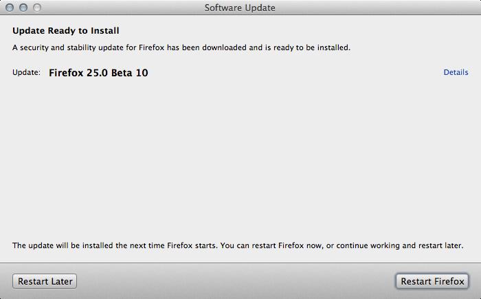 Firefox 25.0 Beta 10