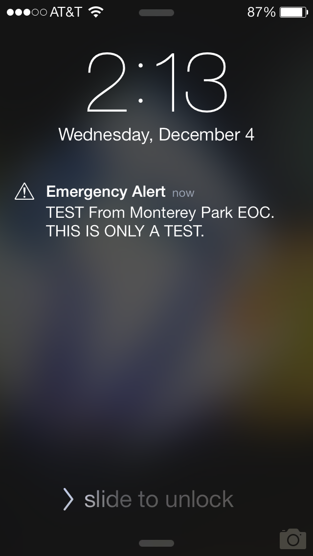 This Is Just A Test Of The Emergency Broadcast System