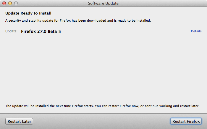 Firefox 27.0 Beta 5
