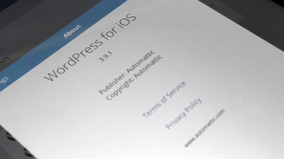 WordPress 3.9.1 for iOS