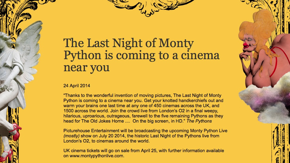 Monty Python Live News