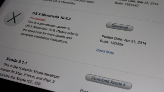 OS X Mavericks 10.9.3 build 13D45a