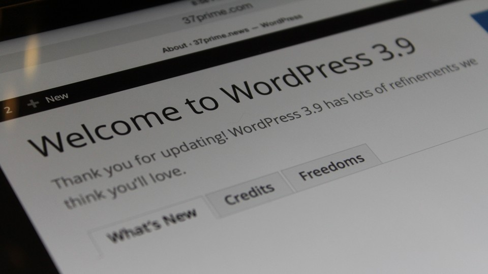 WordPress 3.9 Update
