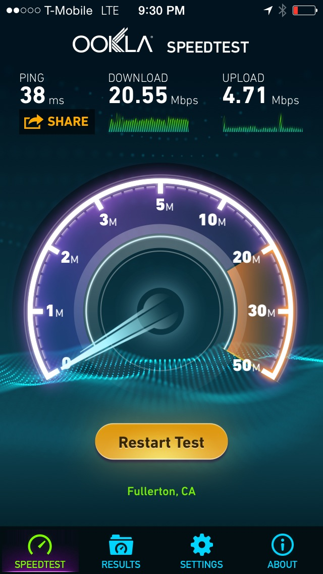 Speed Test Long Beach Downtown T-Mobile