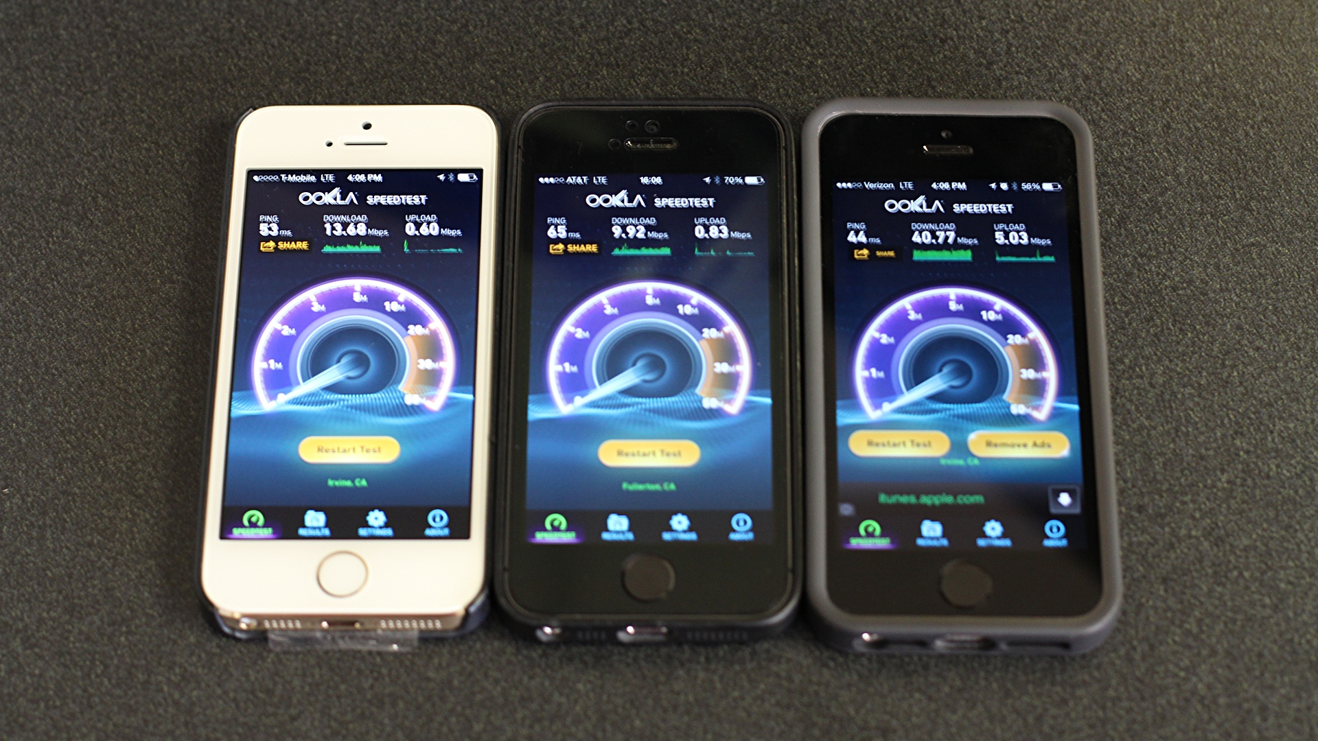iPhone 5s on T-Mobile, AT&T, and Verizon