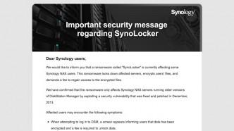 Synology on SynoLocker