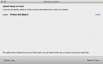 Firefox 33.0 Beta 5