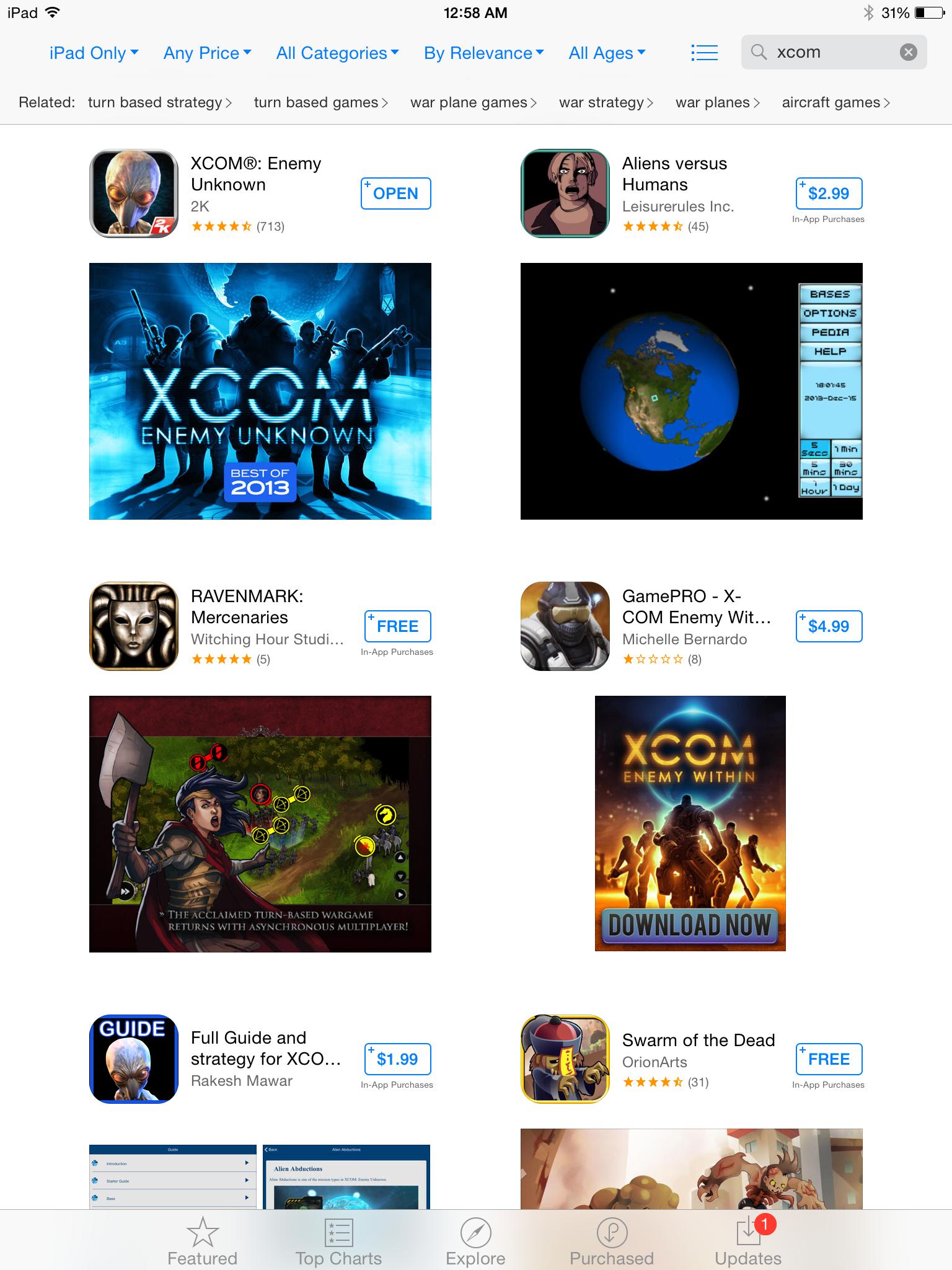 XCOM in the App Store
