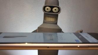 Bender performing Bending Test on iPhone 6