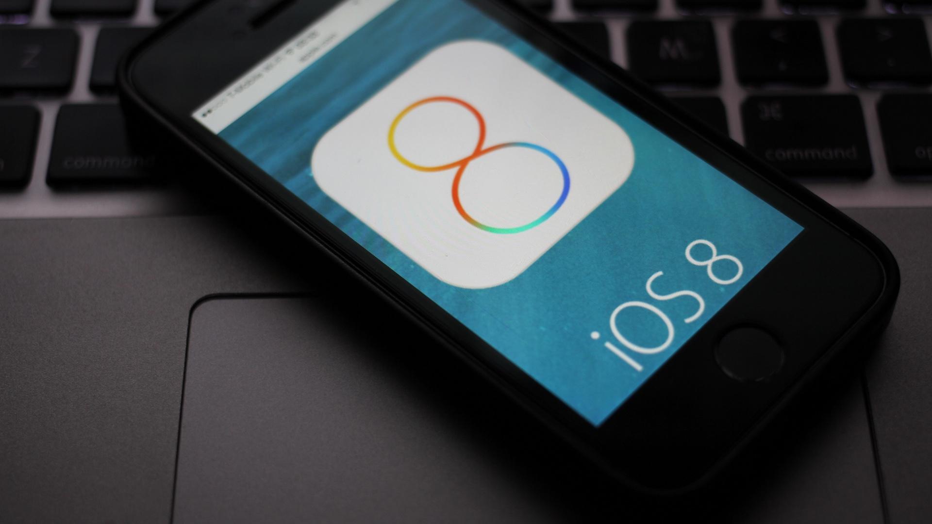 iOS 8 on iPhone 5s