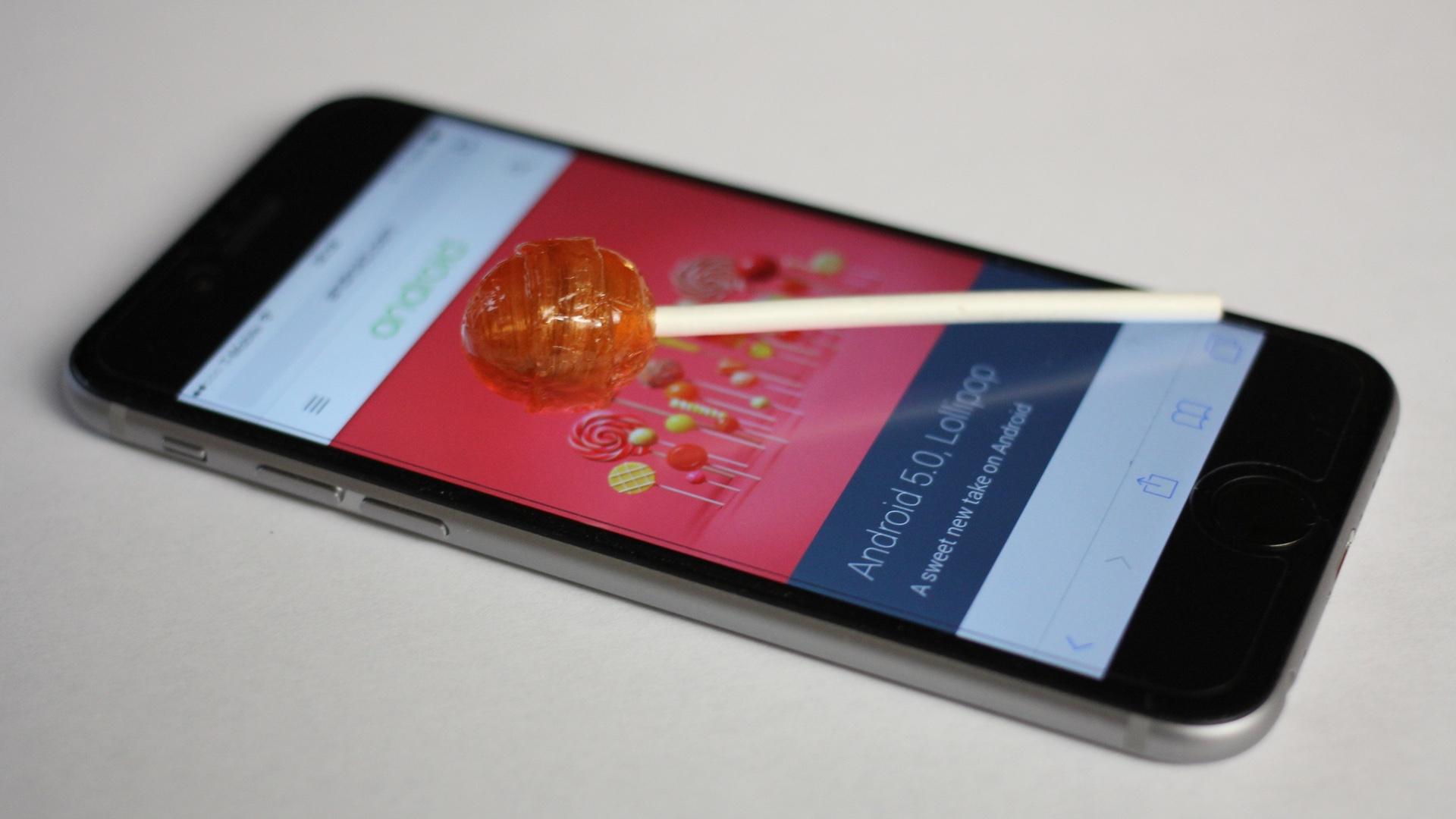 Lollipop on iPhone 6