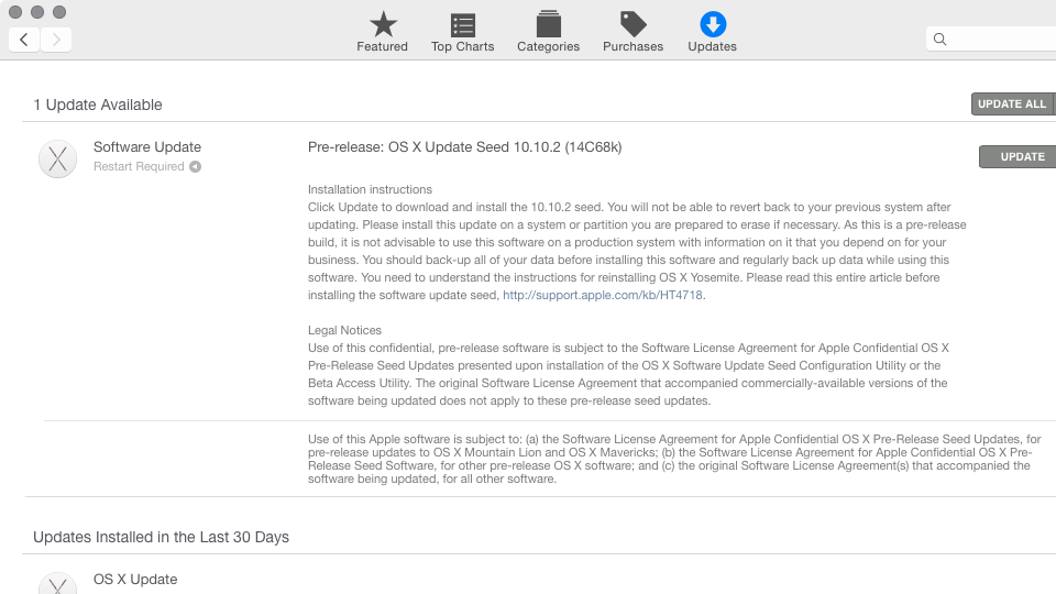 OS X Update Seed 10.10.2 build 14C68k