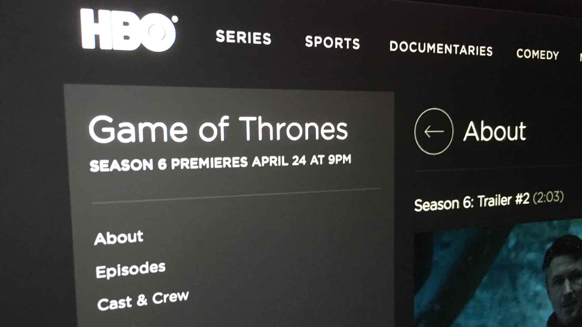Game of Thrones Season 6 April 24 2016
