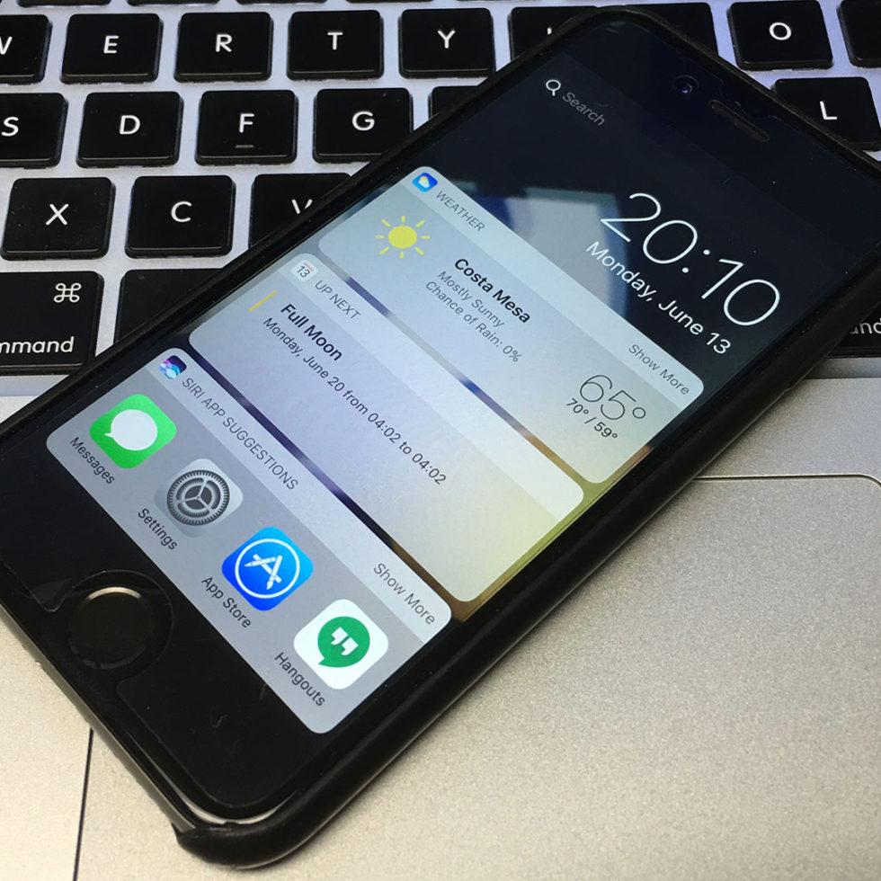 iOS-10-beta-on-iPhone-6