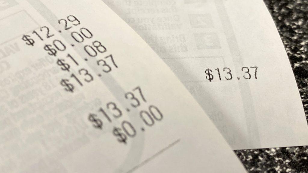 $13.37 Receipt