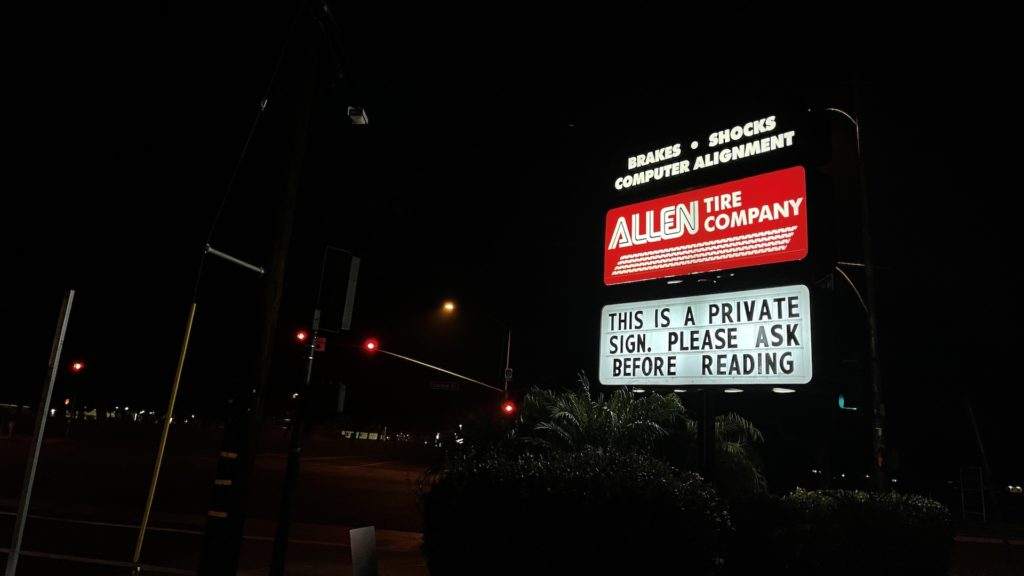 Allen Tire Company Private Sign